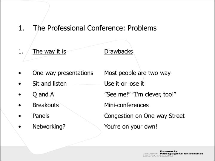 1.The Professional Conference: Problems