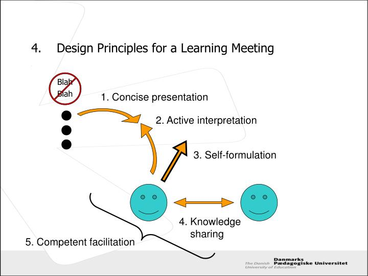 4.	Design Principles for a Learning Meeting