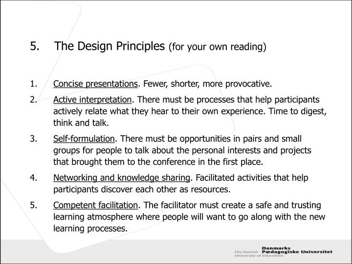 5.	The Design Principles