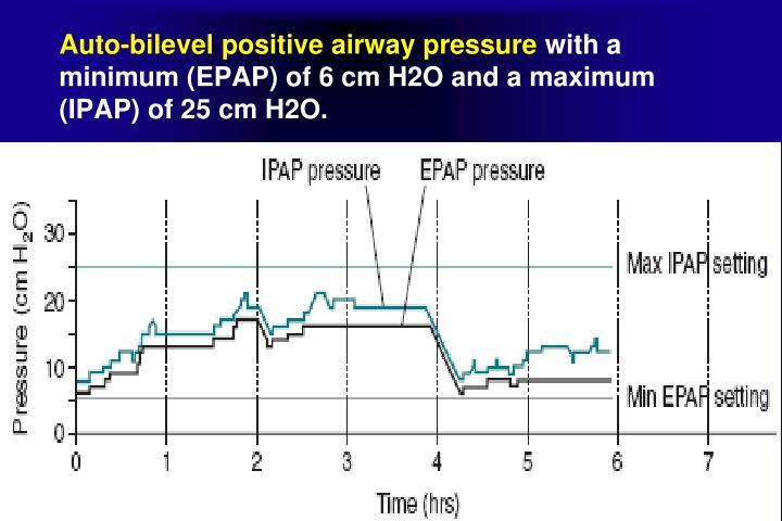 bilevel positive airway pressure machine