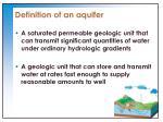 definition of an aquifer