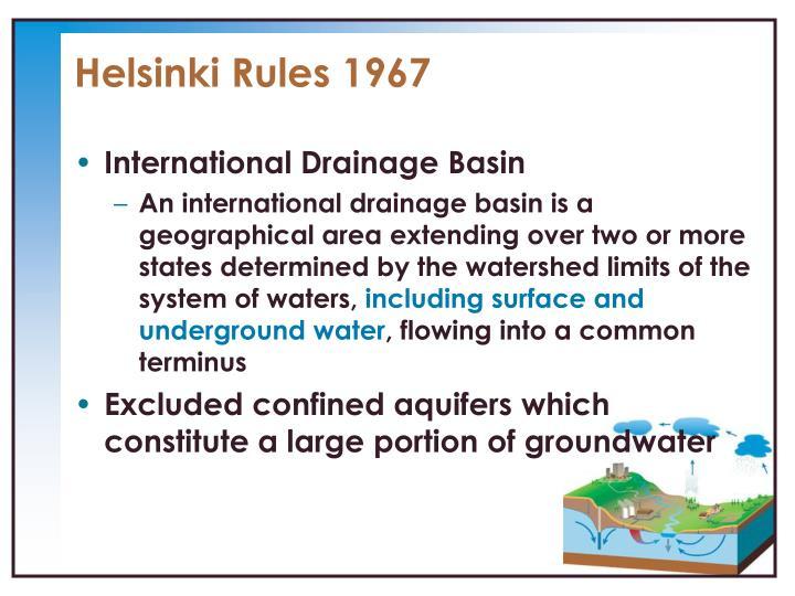 Helsinki Rules 1967