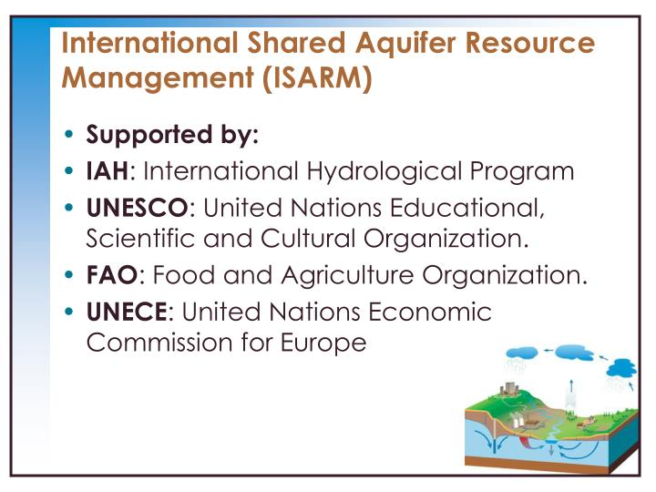 International Shared Aquifer Resource Management (ISARM)