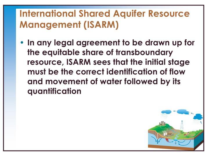 International Shared Aquifer Resource Management (ISARM)