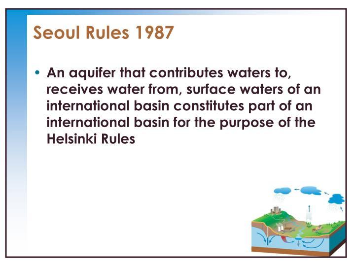 Seoul Rules 1987