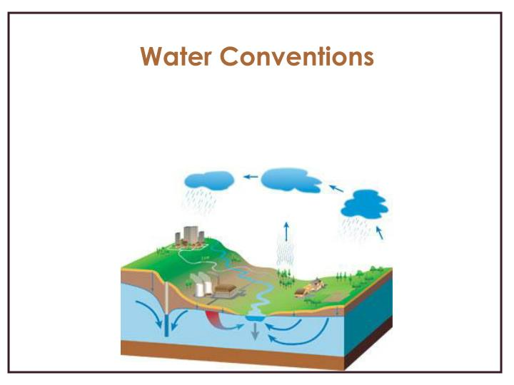 Water Conventions