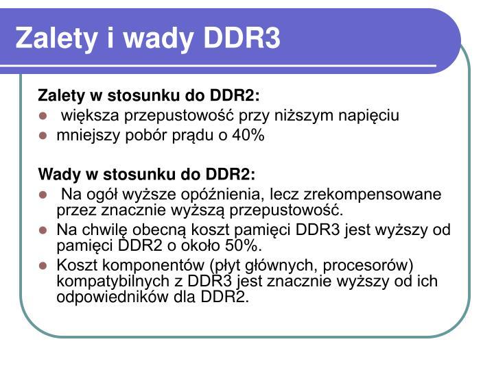 Zalety i wady DDR3