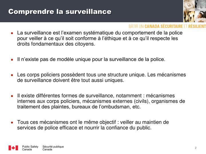 Comprendre la surveillance