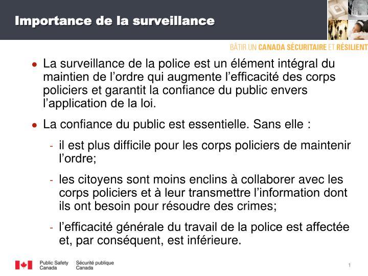 Importance de la surveillance