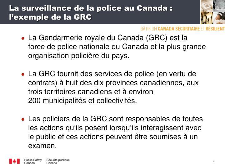 La surveillance de la police au Canada: l'exemple de la GRC