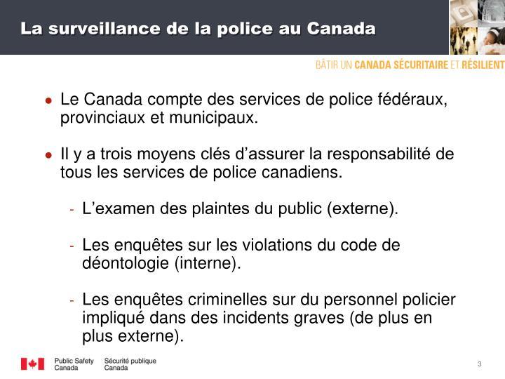 La surveillance de la police au Canada