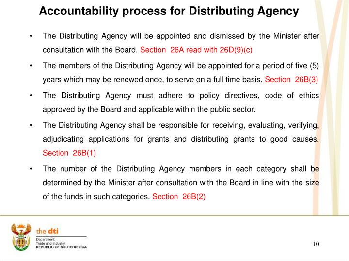 Accountability process for