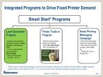 integrated programs to drive fixed printer demand1