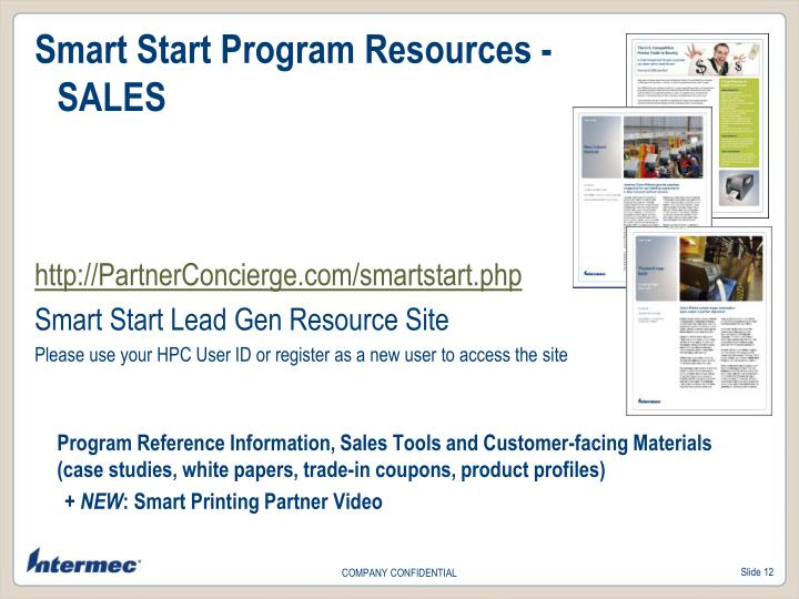 Smart Start Program Resources -