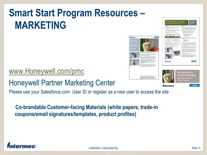 Smart Start Program Resources –