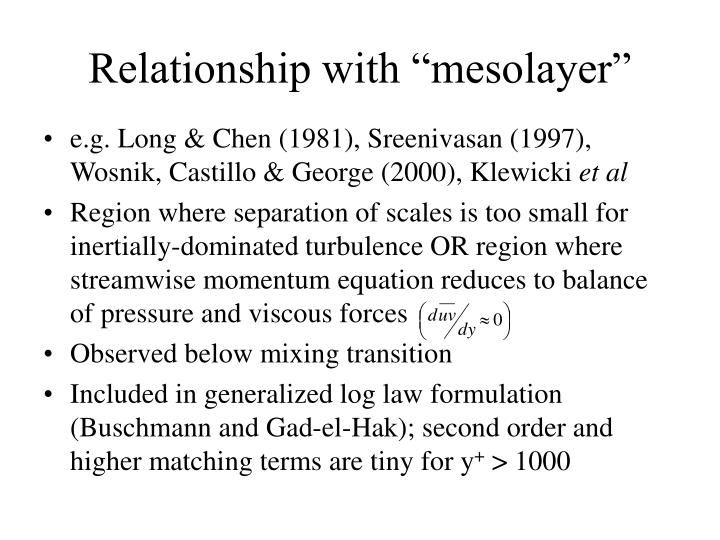 "Relationship with ""mesolayer"""