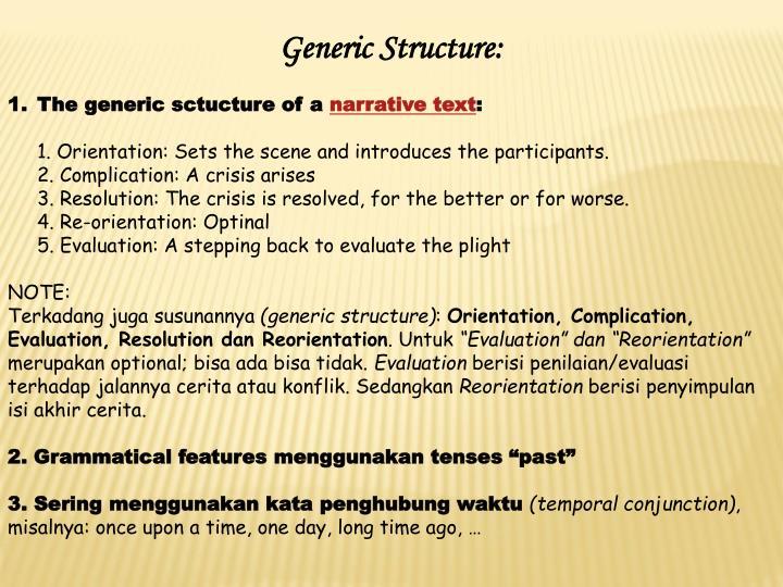 Generic Structure:
