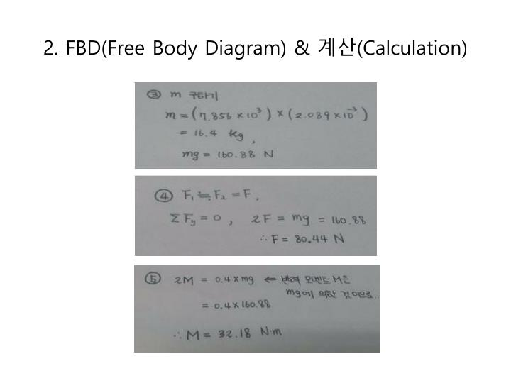2. FBD(Free Body Diagram) &