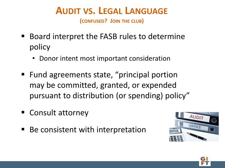Audit vs. Legal Language