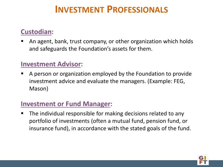 Investment Professionals