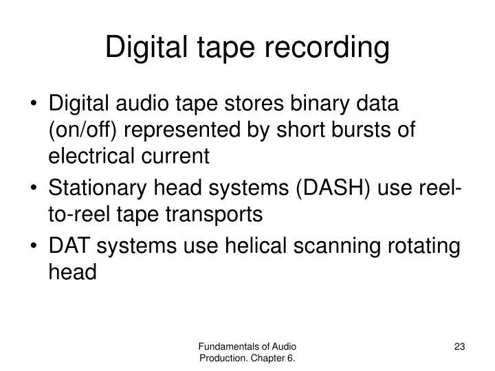 Digital tape recording