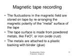 magnetic tape recording2