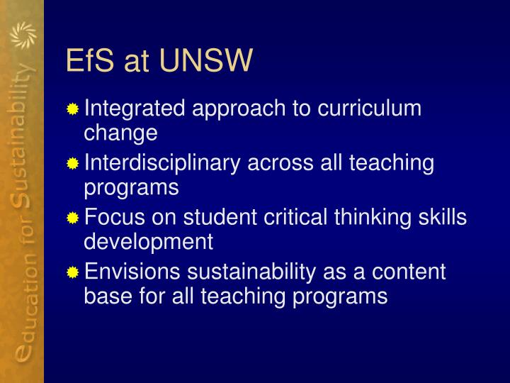 EfS at UNSW