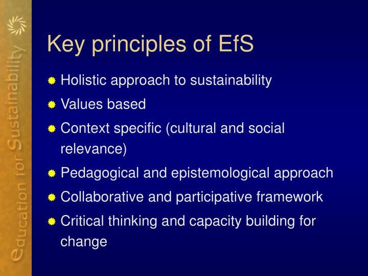 Key principles of EfS
