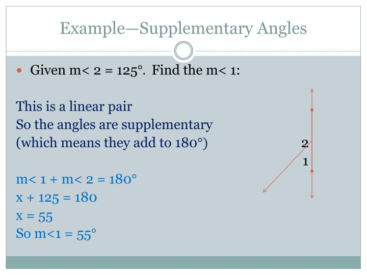 Example—Supplementary Angles