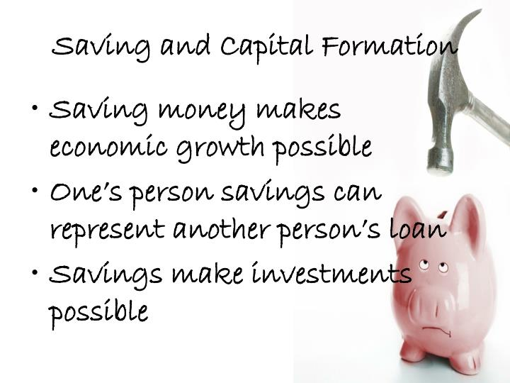 Saving and Capital Formation