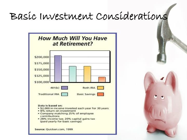 Basic Investment Considerations