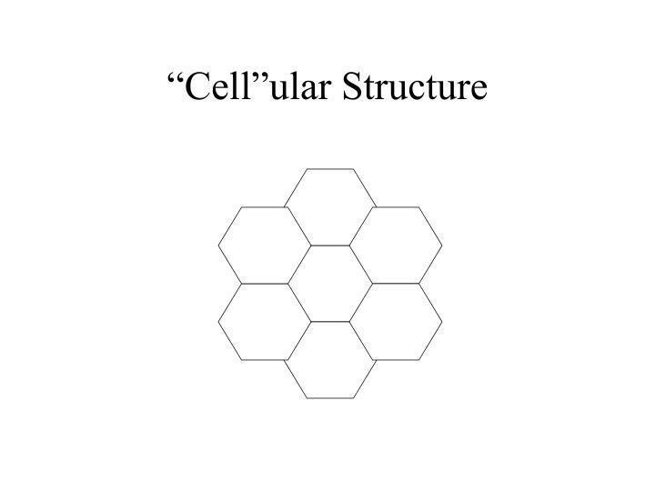 """Cell""ular Structure"