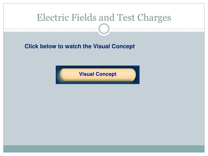 Electric Fields and Test Charges