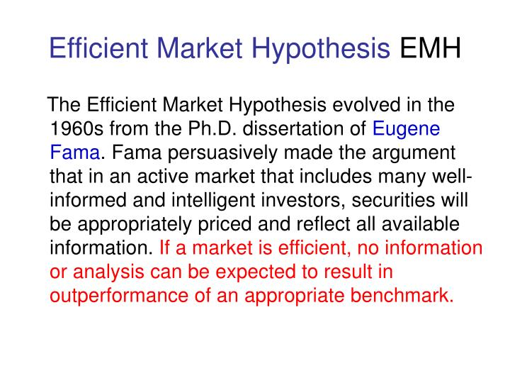 Efficient market hypothesis emh