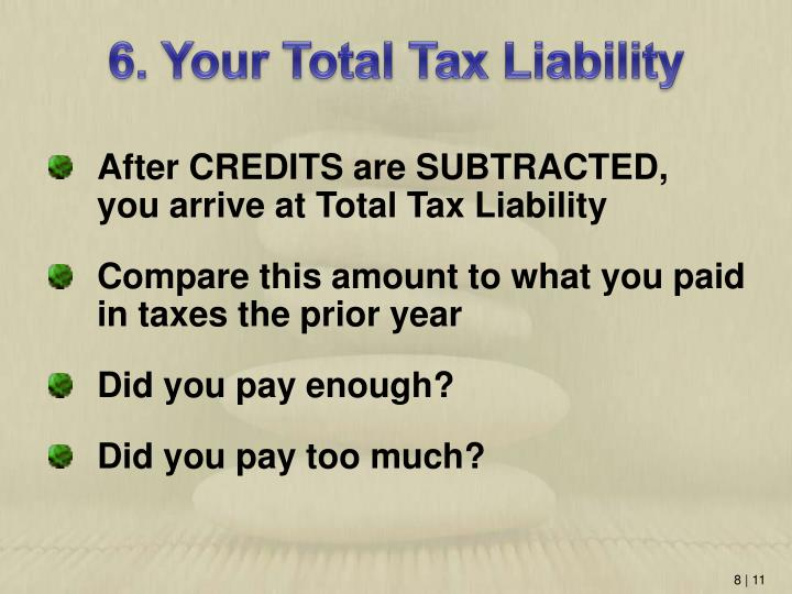 6. Your Total Tax Liability