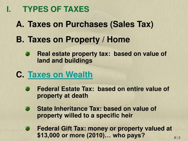 TYPES OF TAXES