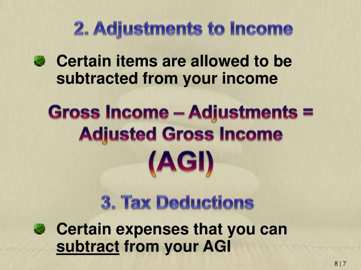 2. Adjustments to Income