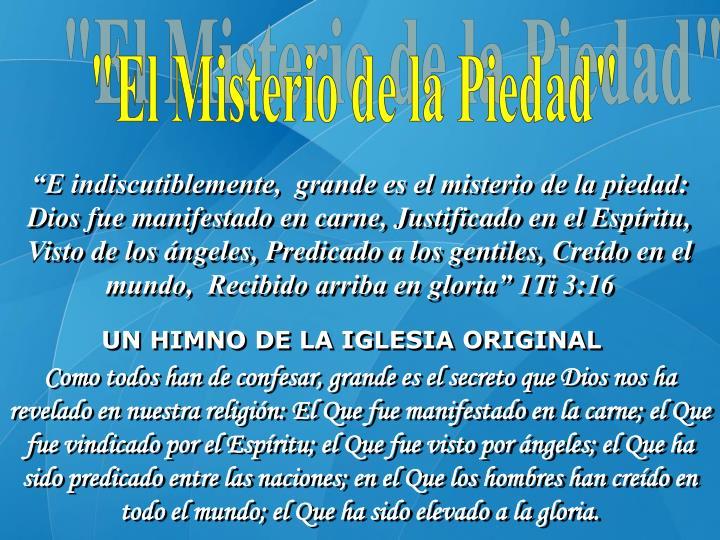 """""""El Misterio de la Piedad"""""""