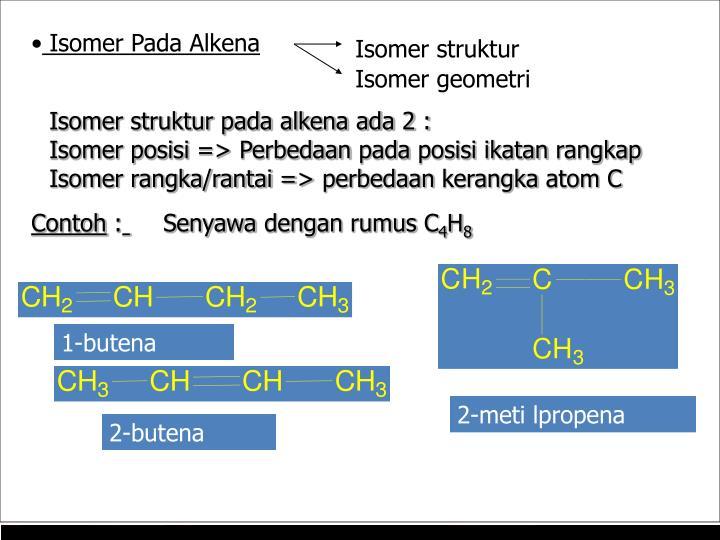 Isomer Pada Alkena