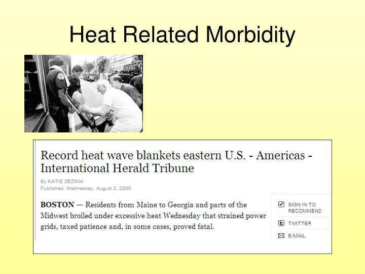 Heat Related Morbidity