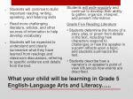 what your child will be learning in grade 5 english language arts and literacy