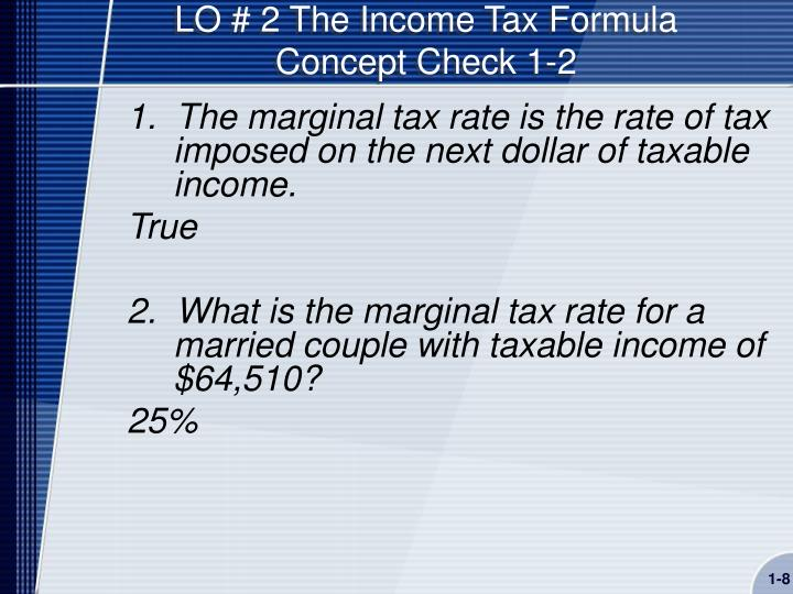 LO # 2 The Income Tax Formula