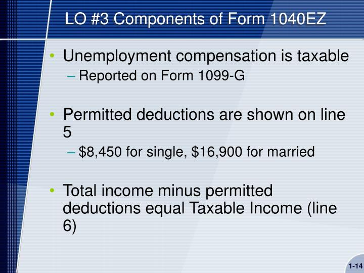 LO #3 Components of Form 1040EZ