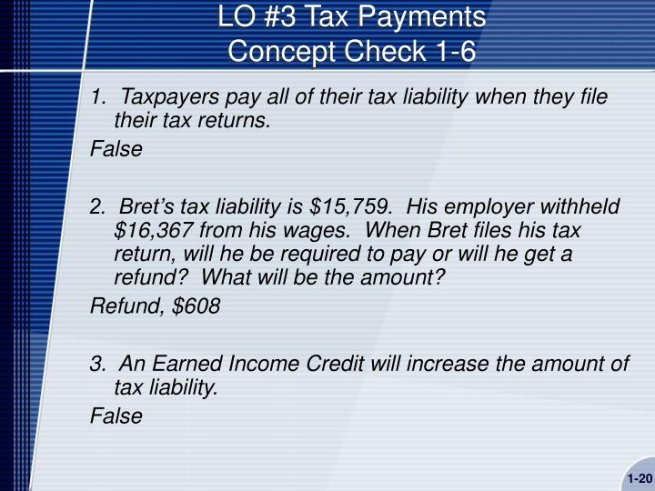 LO #3 Tax Payments