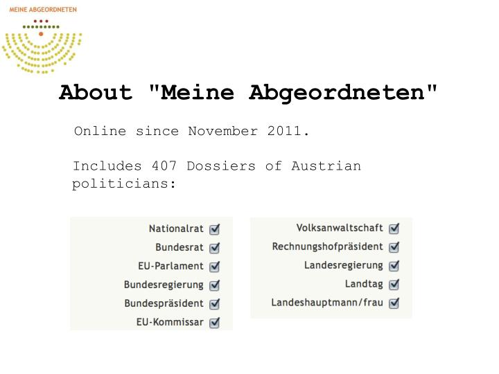 """About """"Meine Abgeordneten"""""""