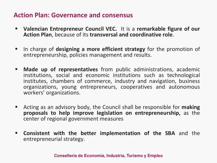 Action Plan: Governance and