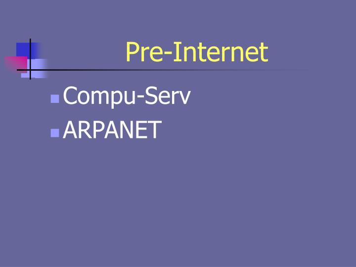 Pre-Internet