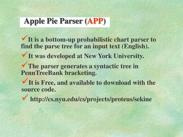 Apple Pie Parser (