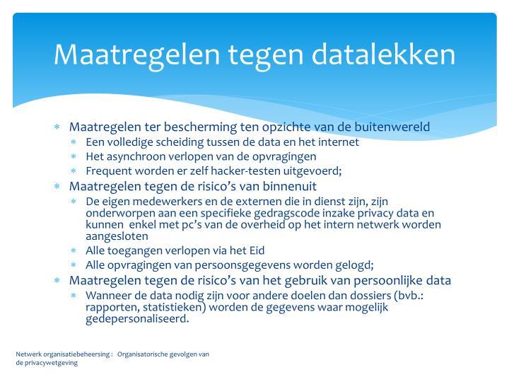 Maatregelen tegen datalekken