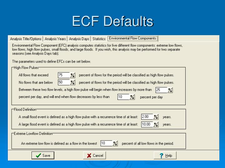 ECF Defaults